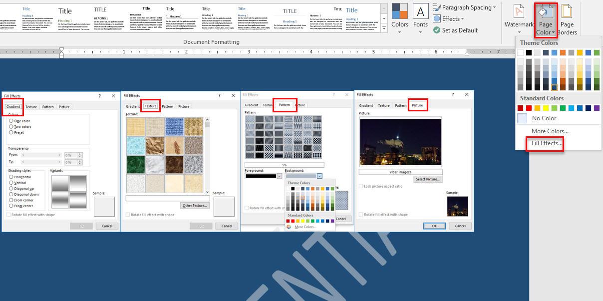microsoft word page design