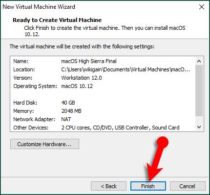 Install macOS High Sierra on VMware on Windows