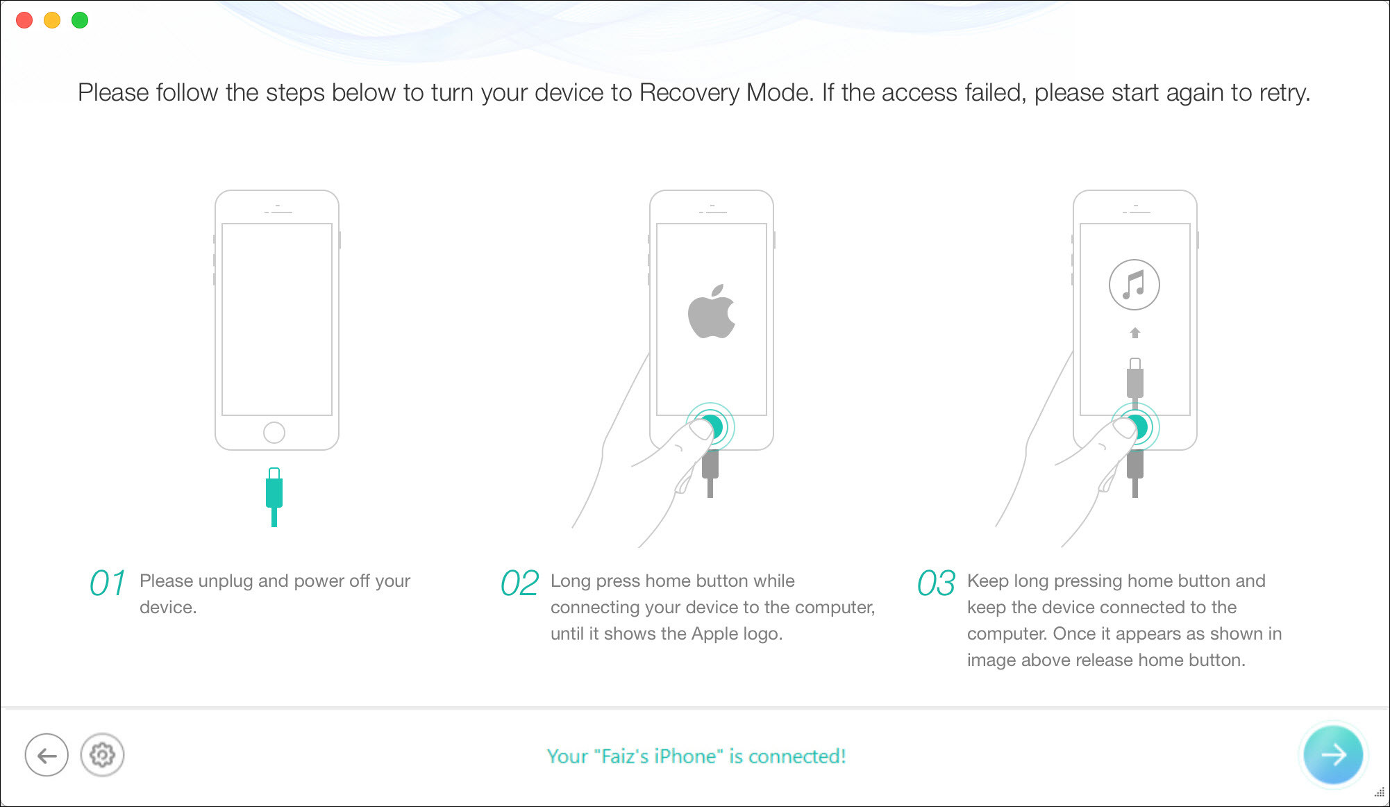 how to put ios 7 into recovery mode