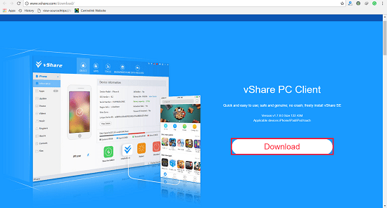 How to Install Vshare on IOS 11.0.1 For Free with Computer