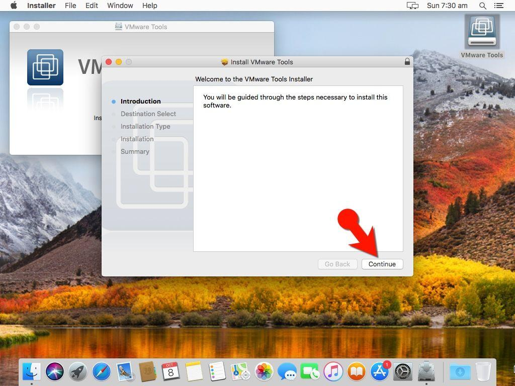 vmware guest additions mac os x