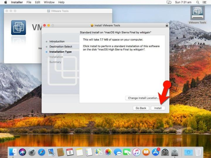 How to Install VMware Tools on macOS High Sierra