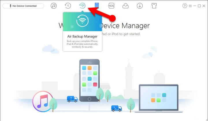 How to Backup iOS Device Wirelessly via AnyTrans
