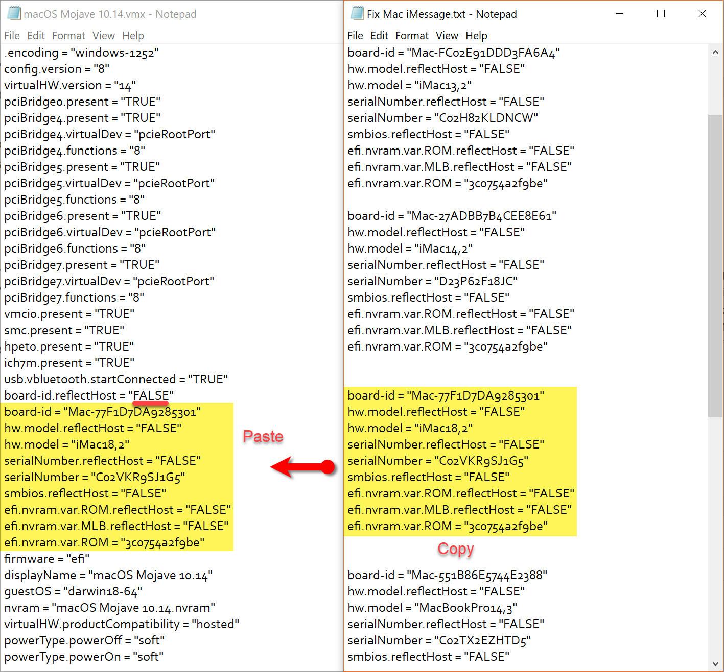 vmware serial number format