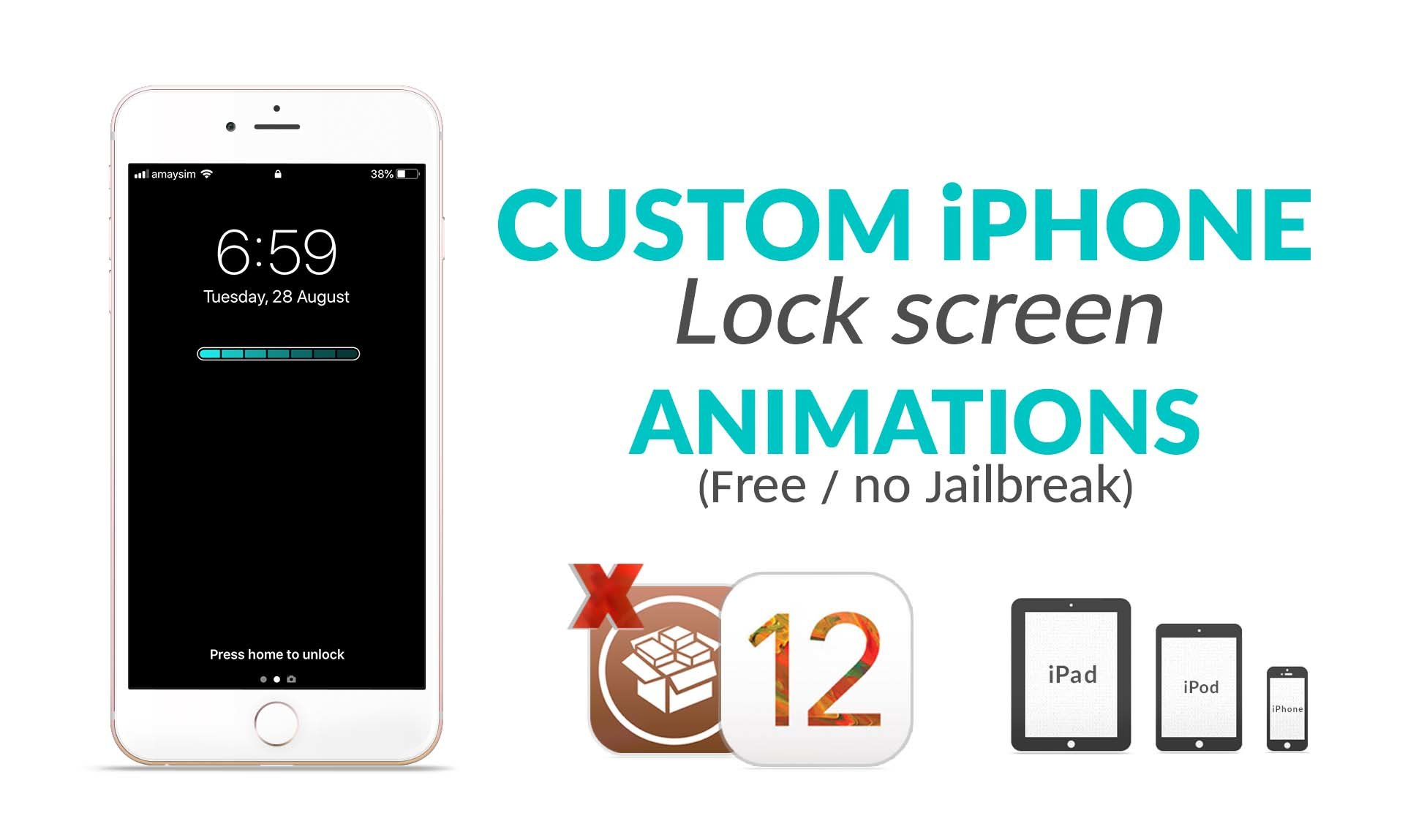 customize iphone lock screen custom iphone lock screen animations free without 6150