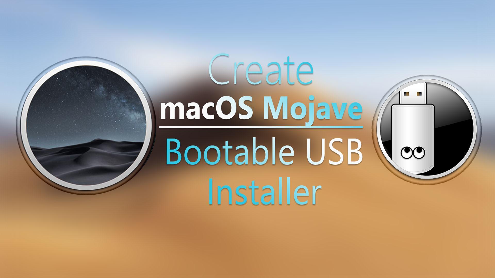 create macos mojave bootable usb on windows