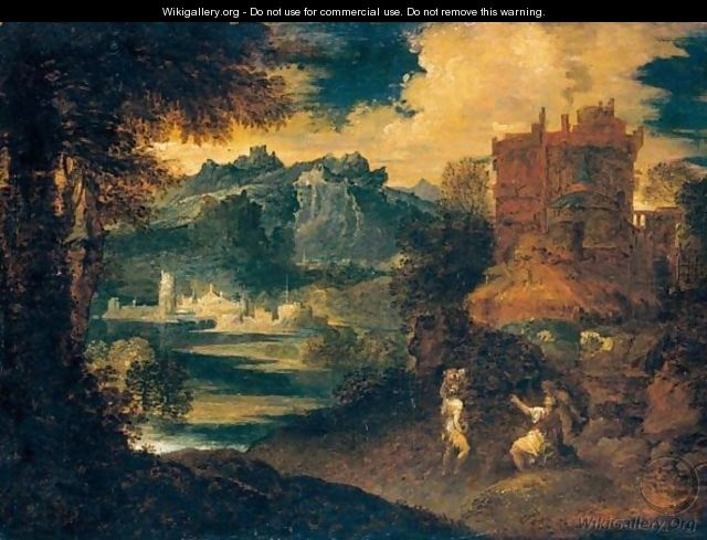 Paesaggio Con Figure  after Tiziano Vecellio Titian  WikiGalleryorg the largest gallery