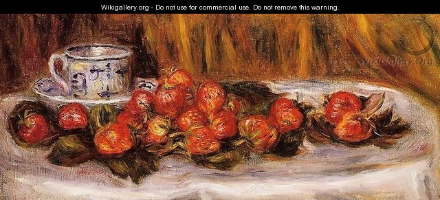 Still Life With Strawberries - Pierre Auguste Renoir