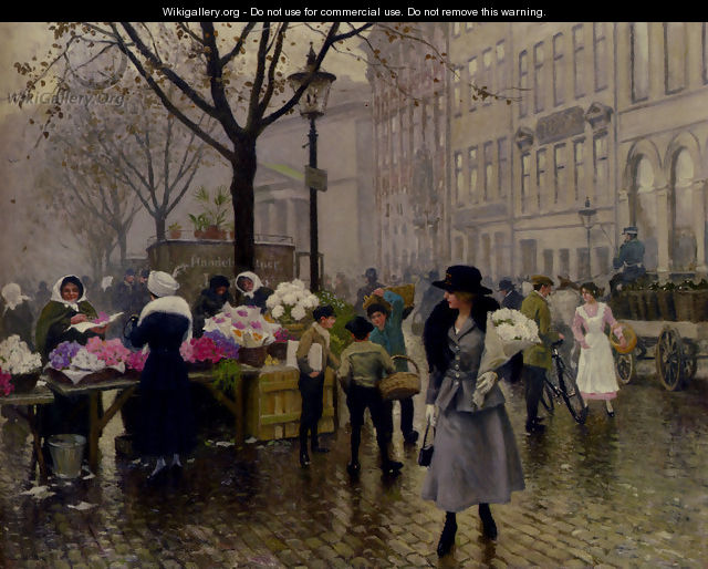 Fischer Gustave The Flower Market Copenhagen - Fisher Paul