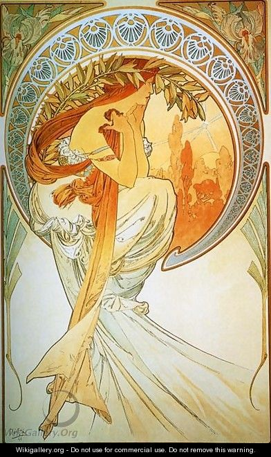 The Arts, Poetry - Alphonse Maria Mucha