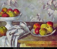 Still life with apples and fruit bowl - Paul Cezanne ...