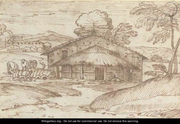 farmhouse in landscape - giovanni
