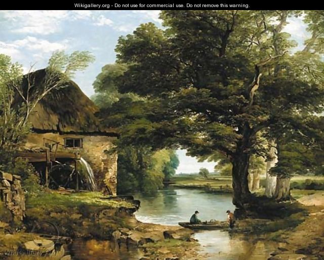 The Cross Hd Wallpaper My Cottage Near The Brook Frederick Richard Lee