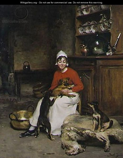 kitchen maid home dog food the with three puppies claude joseph bail click here to download image