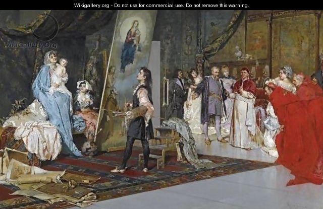 Raphael In His Studio, Painting La Madonna Di Foligno - Salvatore Postiglione