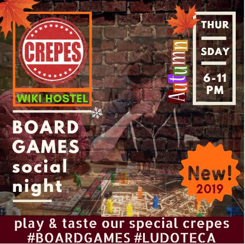 WIKI HOSTEL BOARD GAMES CREPERIE autumn