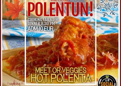 "Wiki Hostel Polentun! The ""Polenta"" social dinner"