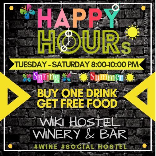 Wiki Hostel HAPPY HOURS free Buffet!