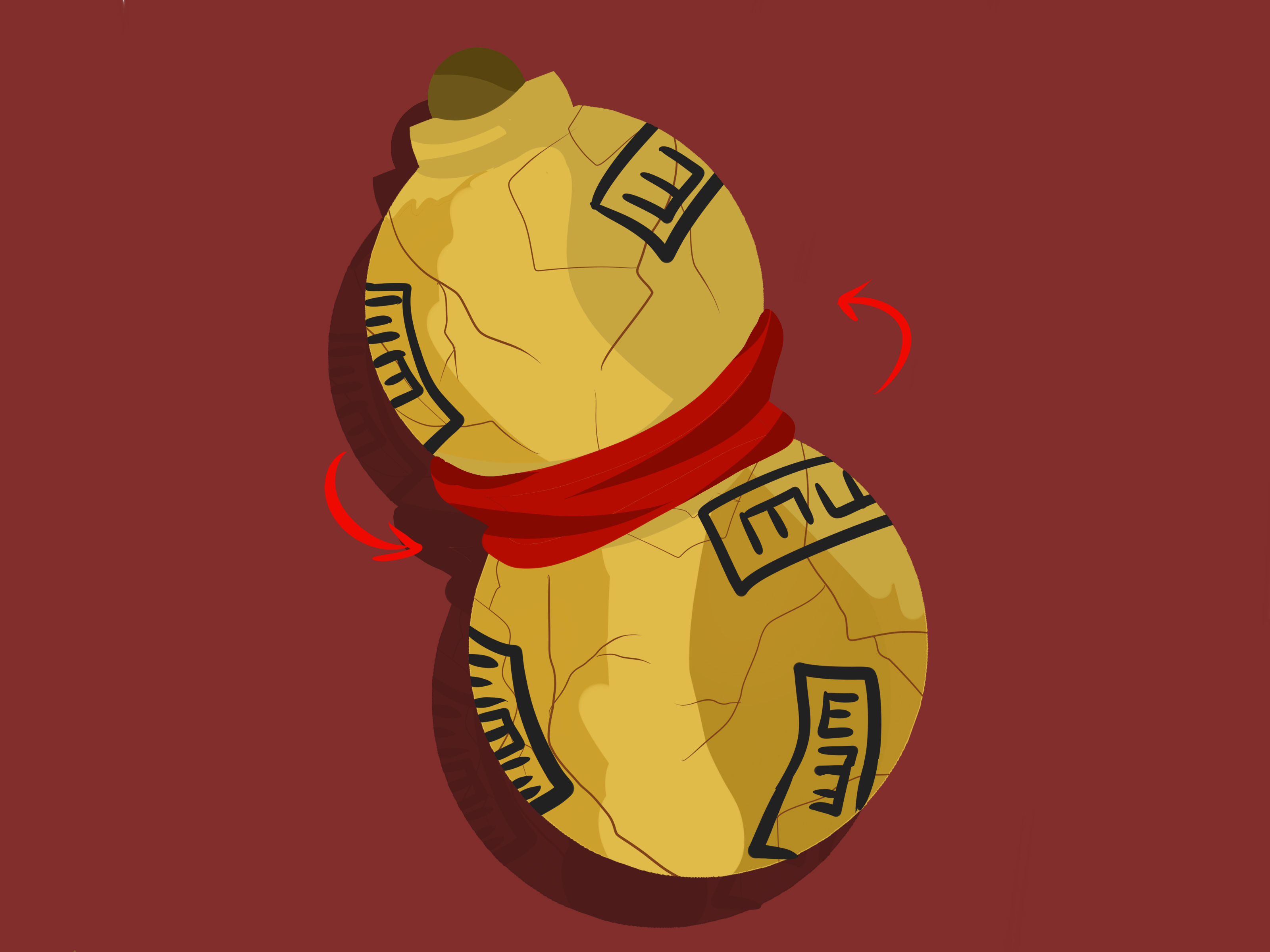 How to Make a Gaara Gourd 12 Steps with Pictures  wikiHow