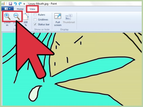 Zoom In Microsoft Paint 6 Steps
