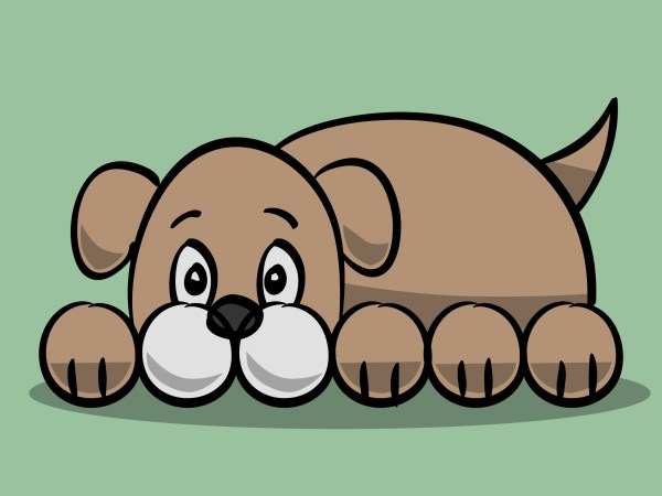 Draw Simple Cartoon Dog 11 Steps