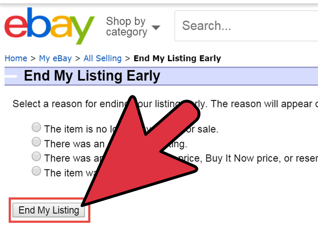 How to Remove an Item from eBay 7 Steps with Pictures