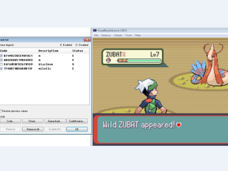 Pokemon Trainer: gameshark pokemon cheat codes emerald