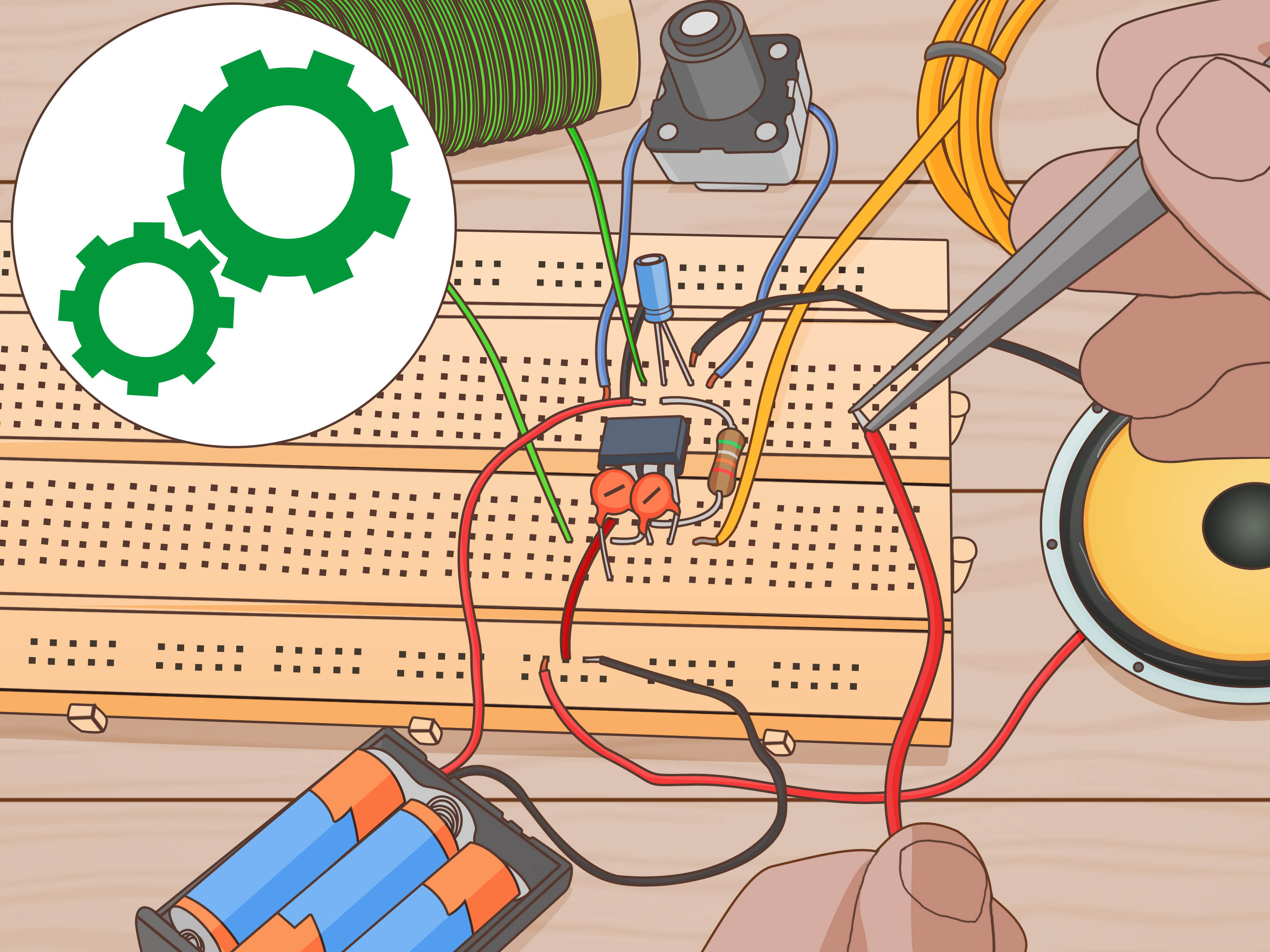 simple am receiver circuit diagram pioneer mosfet 50wx4 car stereo wiring how to create a radio wikihow