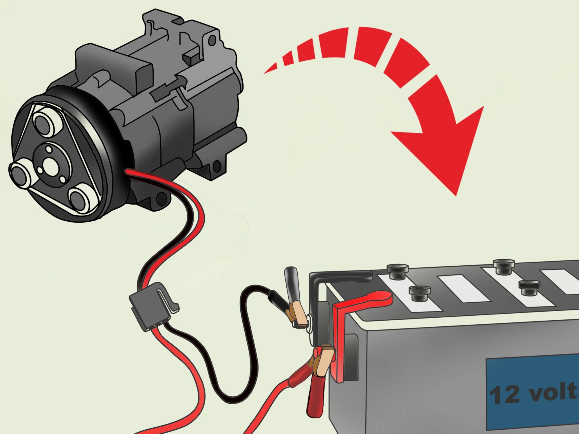 hight resolution of how to check an ac compressor