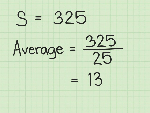 How to Calculate Average or Mean of Consecutive Numbers - wikiHow