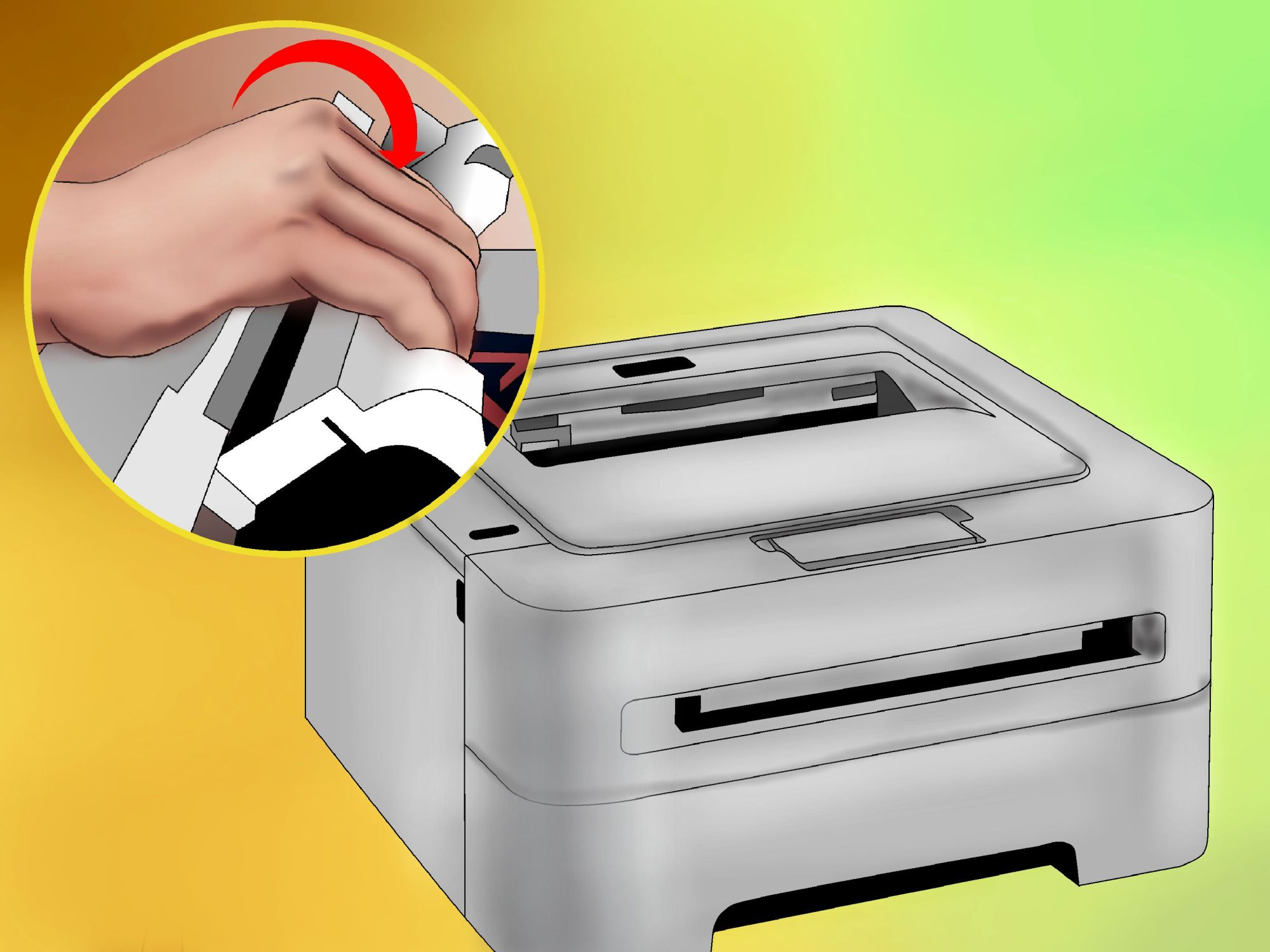 hight resolution of how to clean a laser printer