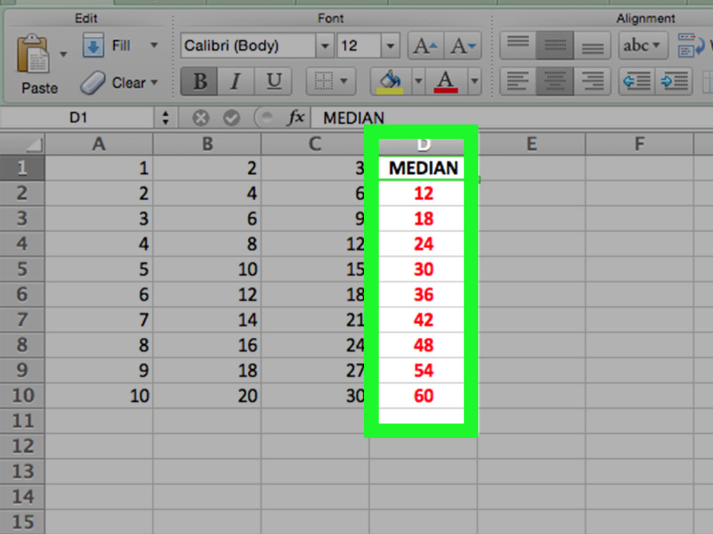 How To Find Median In Excel 5 Steps With Pictures