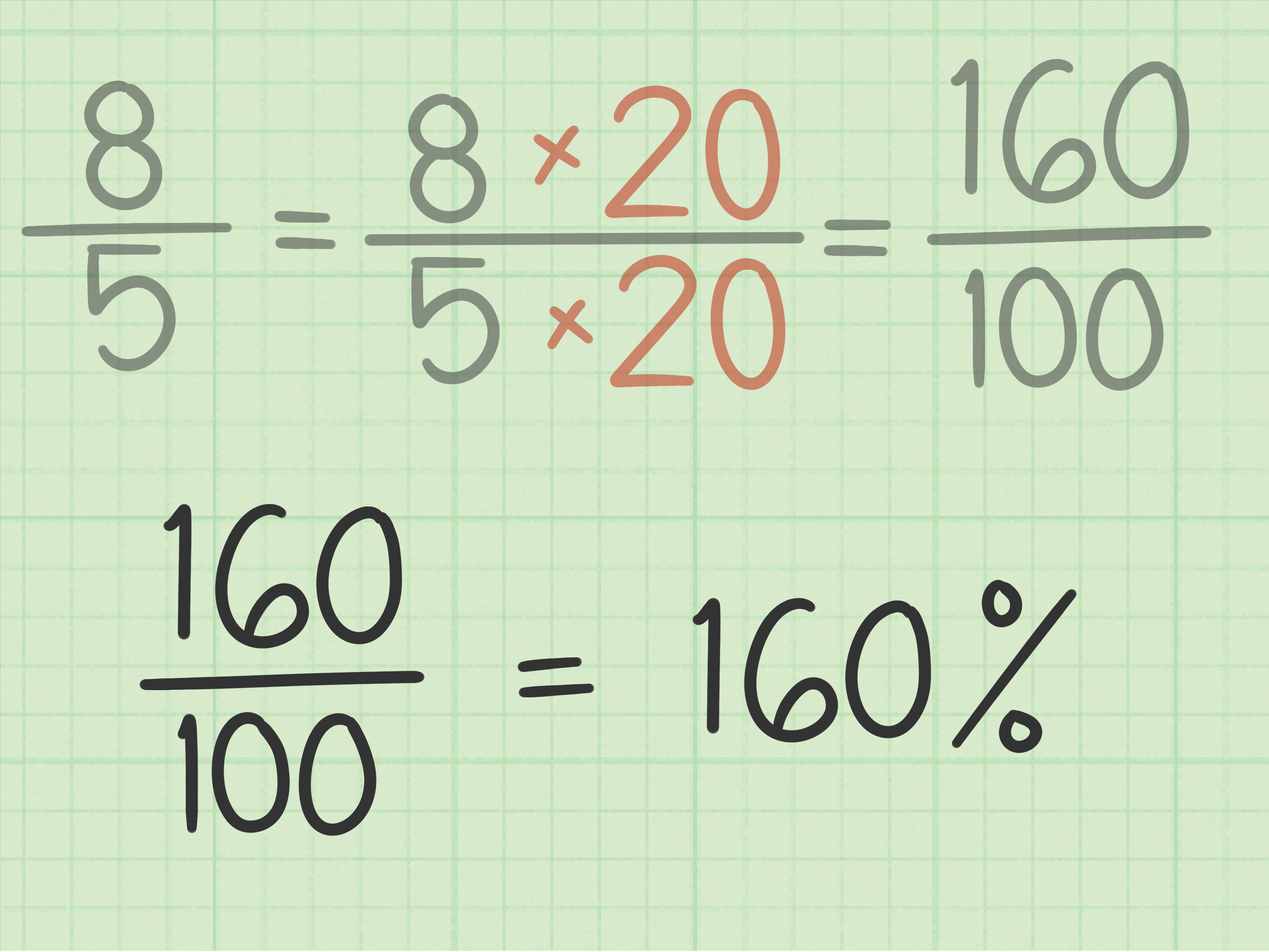3 Ways To Convert An Improper Fraction To Percent