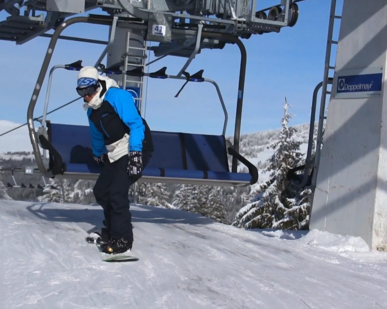 sit to stand chair lift spandex covers cheap how get on a ski with snowboard 11 steps