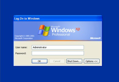 Type Your Windows Password To Login Toolbar