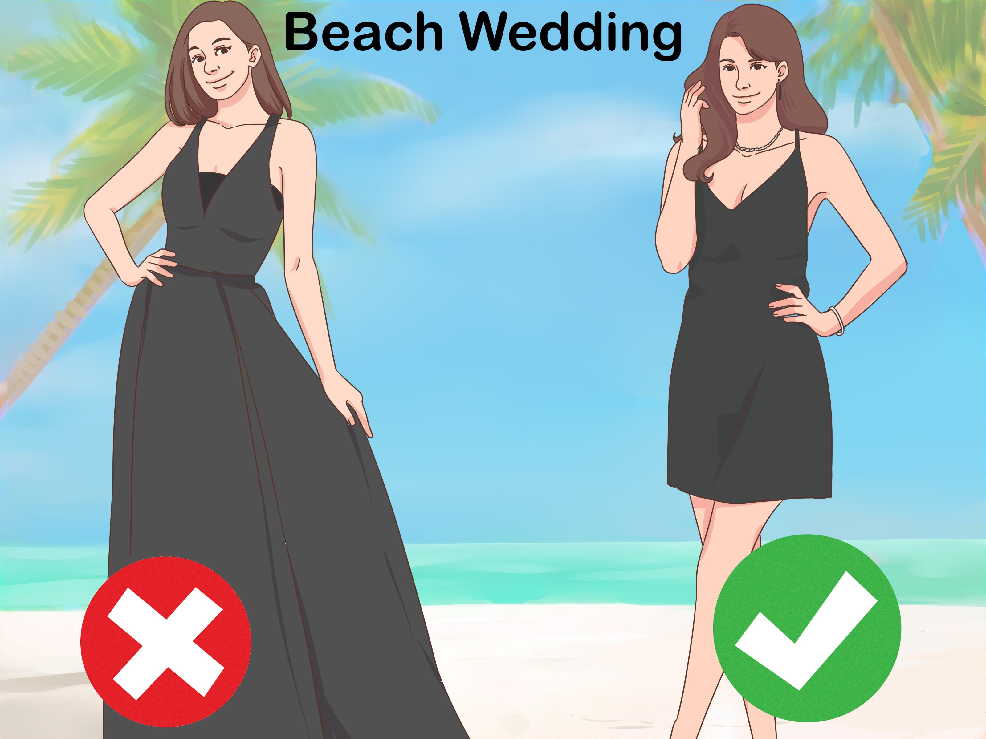 3 Ways to Wear a Black Dress to a Wedding  wikiHow