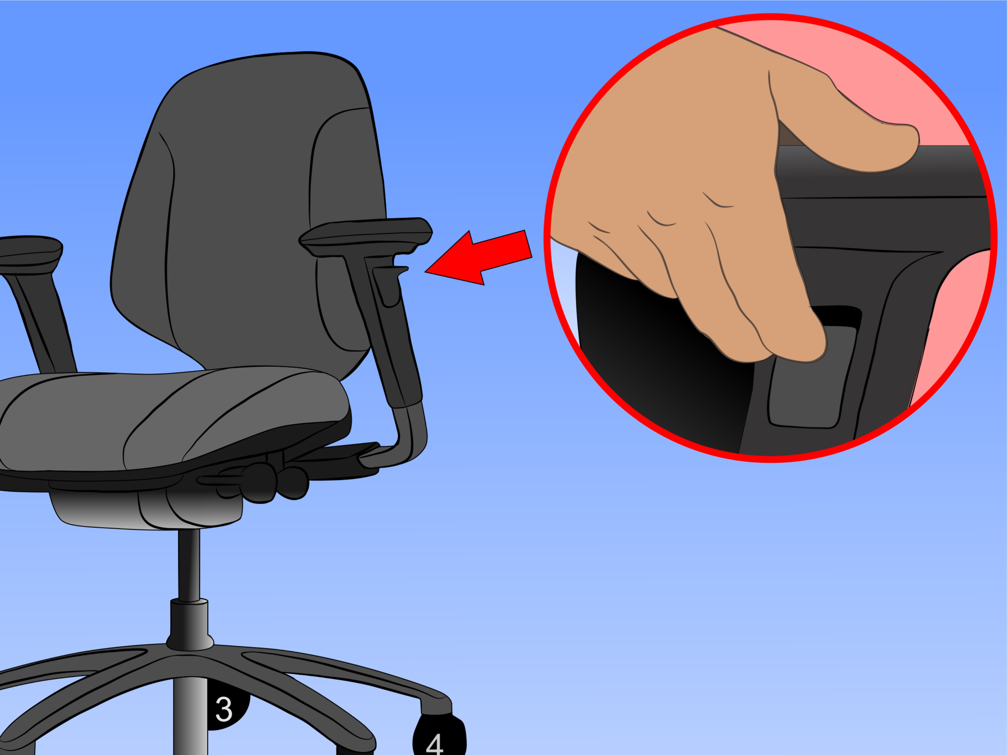 office chair adjustments leather with ottoman how to adjust an pictures wikihow