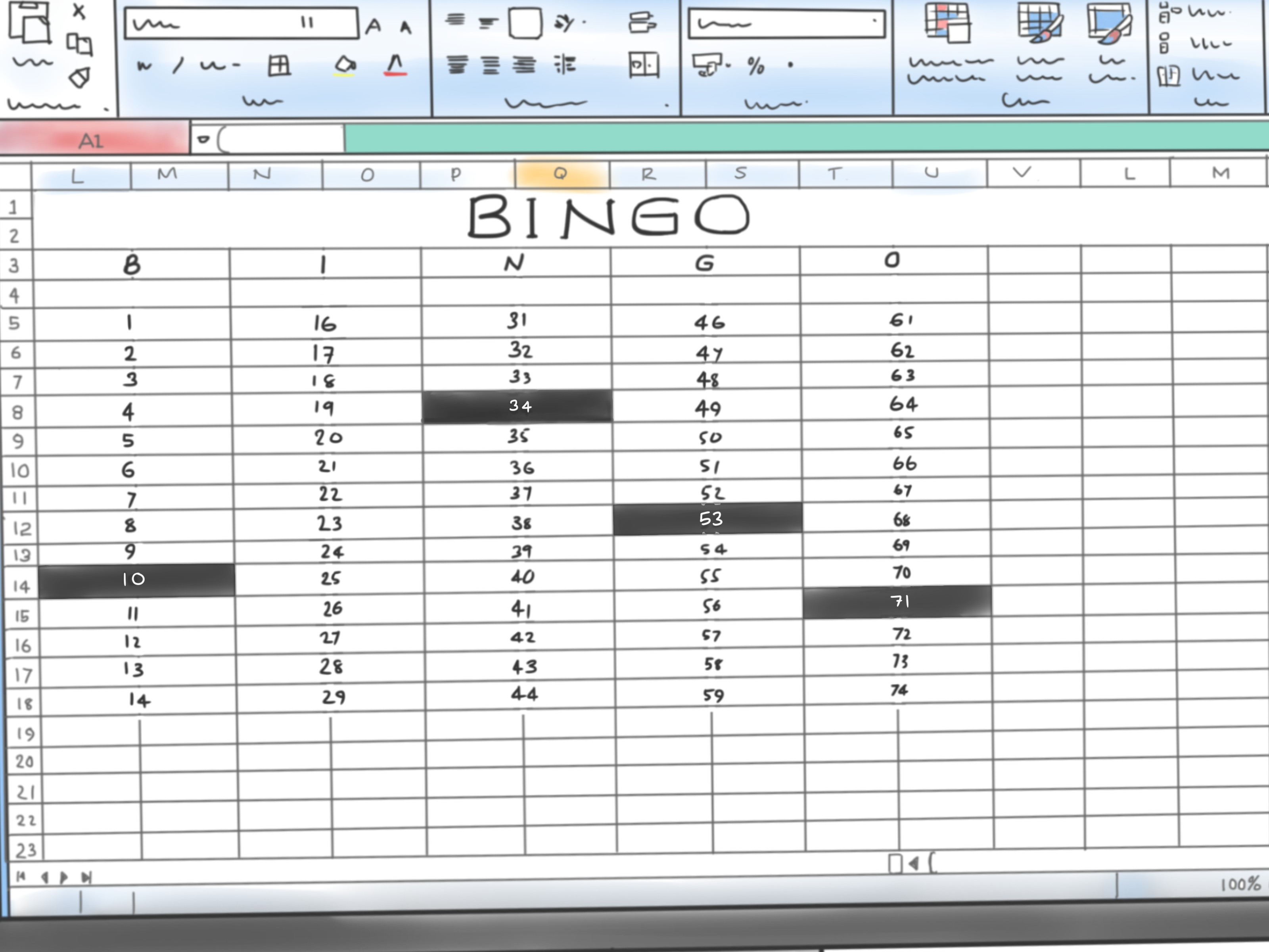 How To Make A Bingo Game In Microsoft Office Excel 9