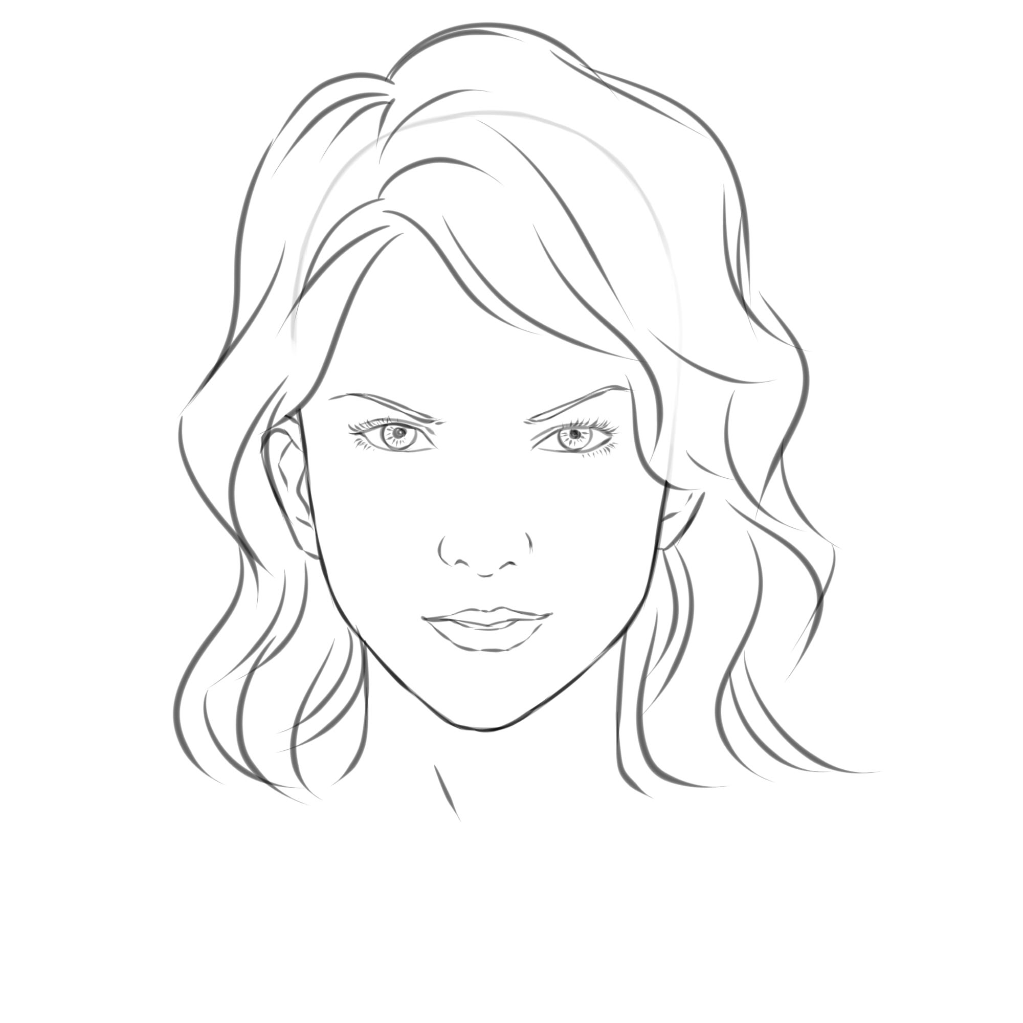 How To Draw A Girl S Face 8 Steps With Pictures