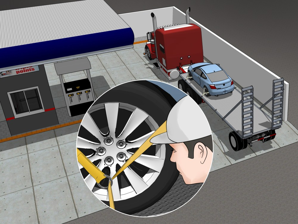 medium resolution of how to tie down a car on a trailer
