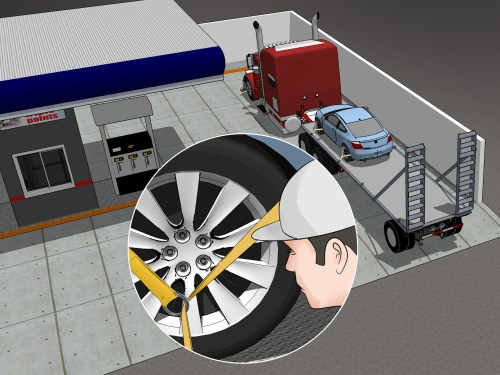 small resolution of how to tie down a car on a trailer
