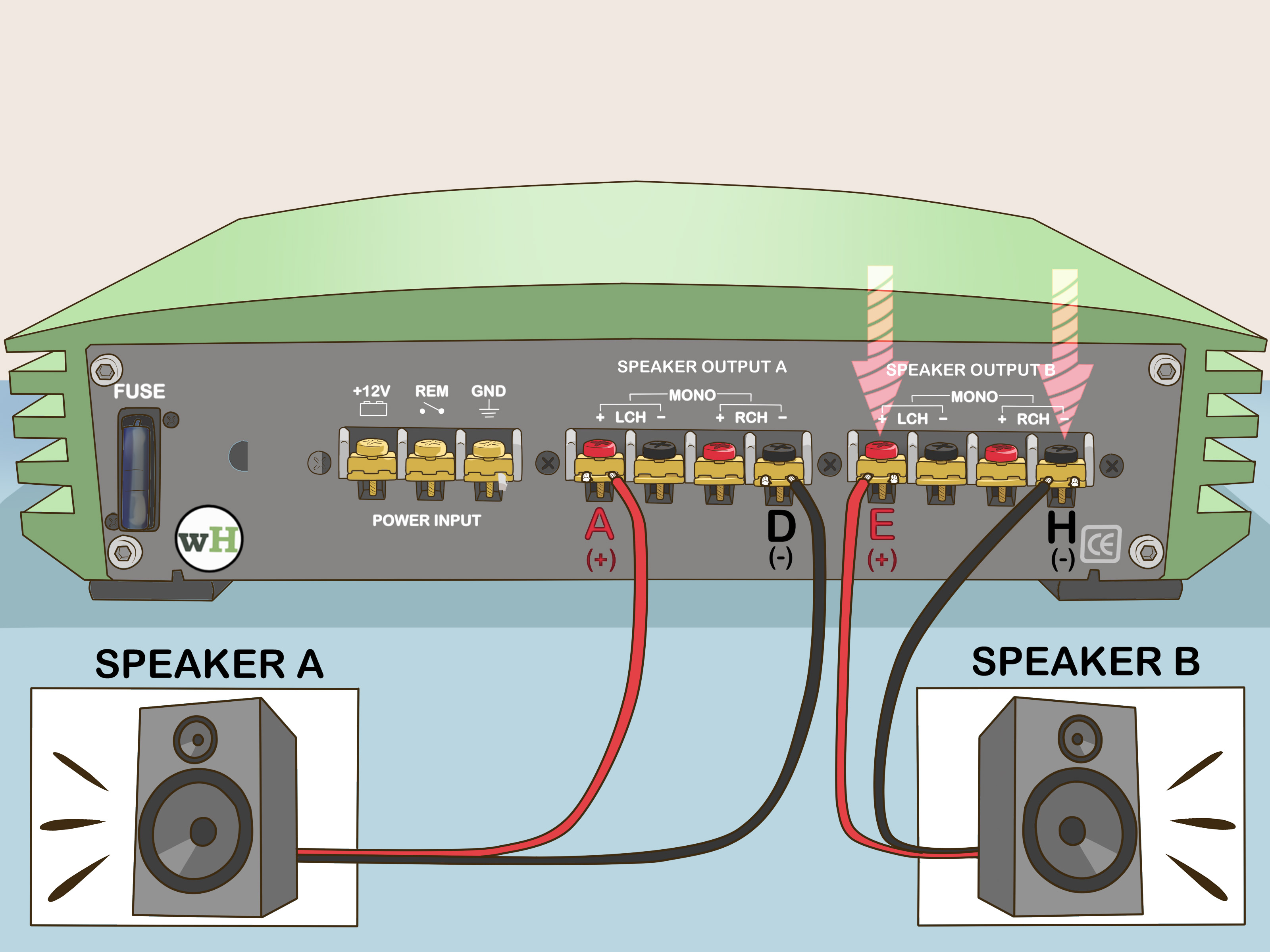 3 Channel Video Switcher Wiring Diagram Come Collegare A Ponte Un Amplificatore 7 Passaggi