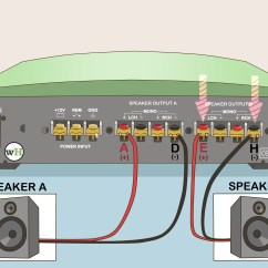 2 Channel And 4 Speakers Oil Pressure Safety Switch Wiring Diagram How To Bridge An Amplifier 7 Steps With Pictures Wikihow