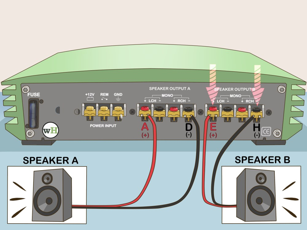 medium resolution of 2 way speaker wiring diagram
