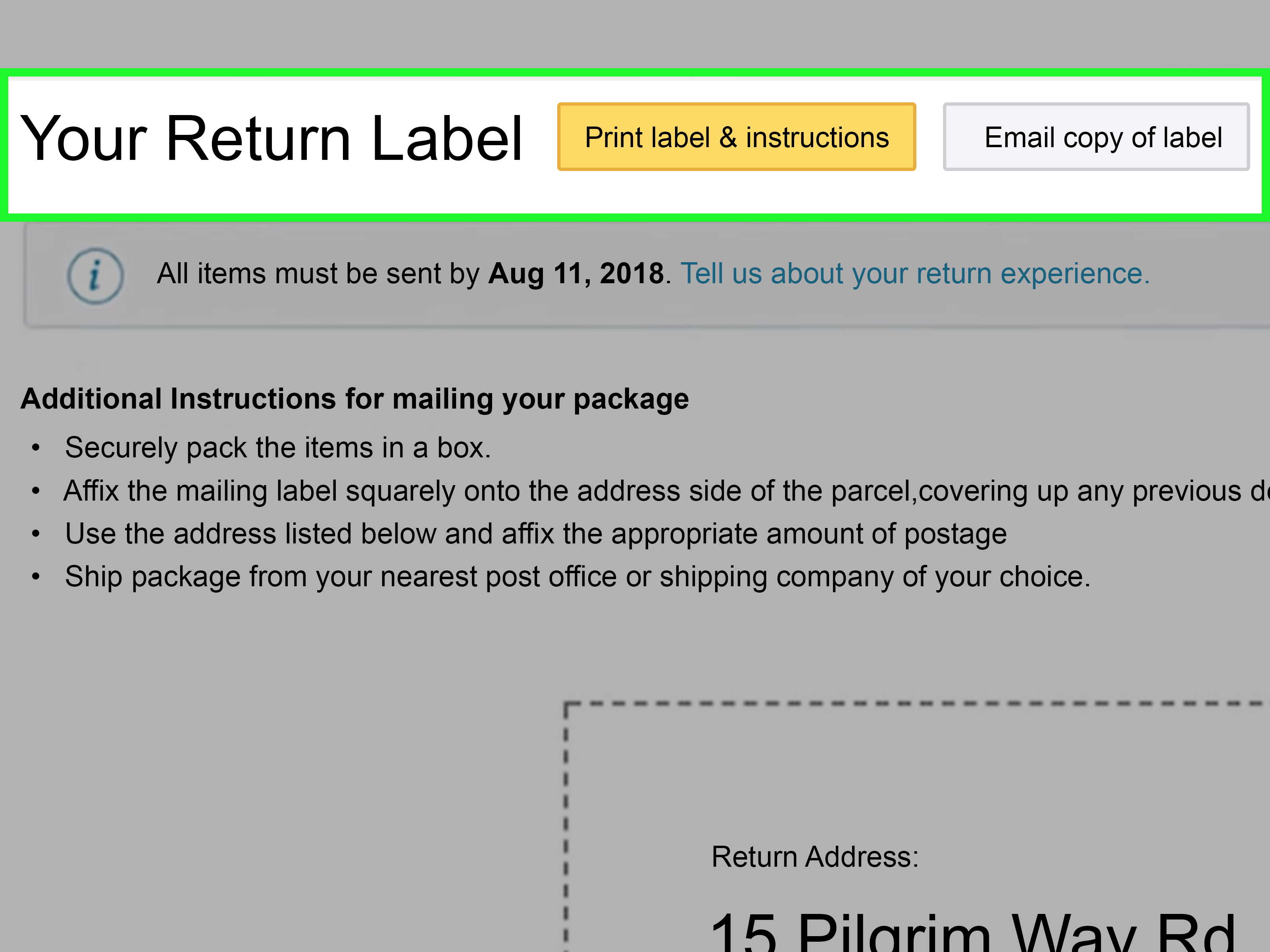 How to Send an Order Back to Amazon: 7 Steps (with Pictures)
