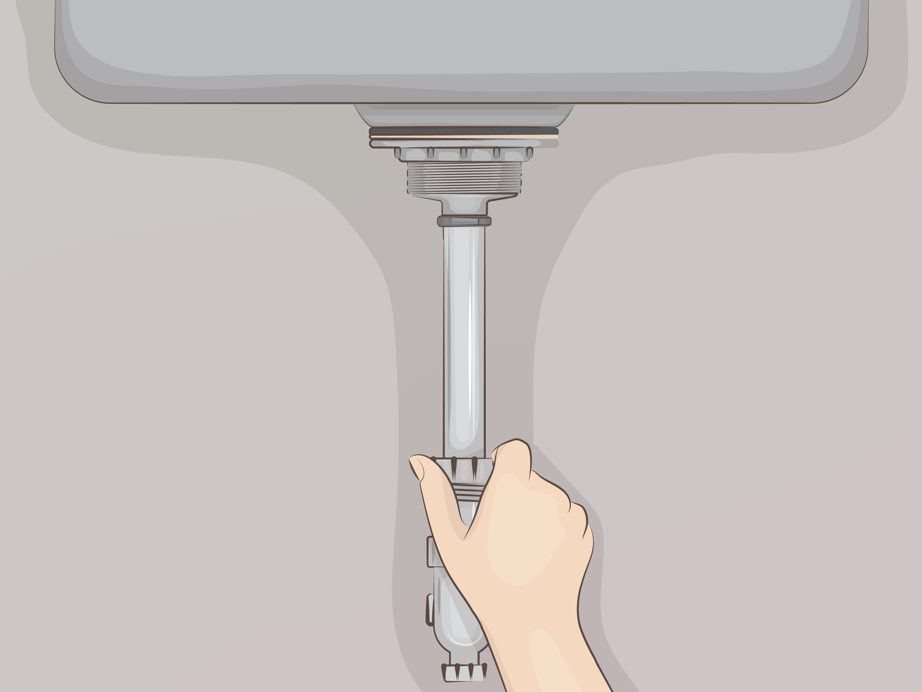 how to install a sink drain with