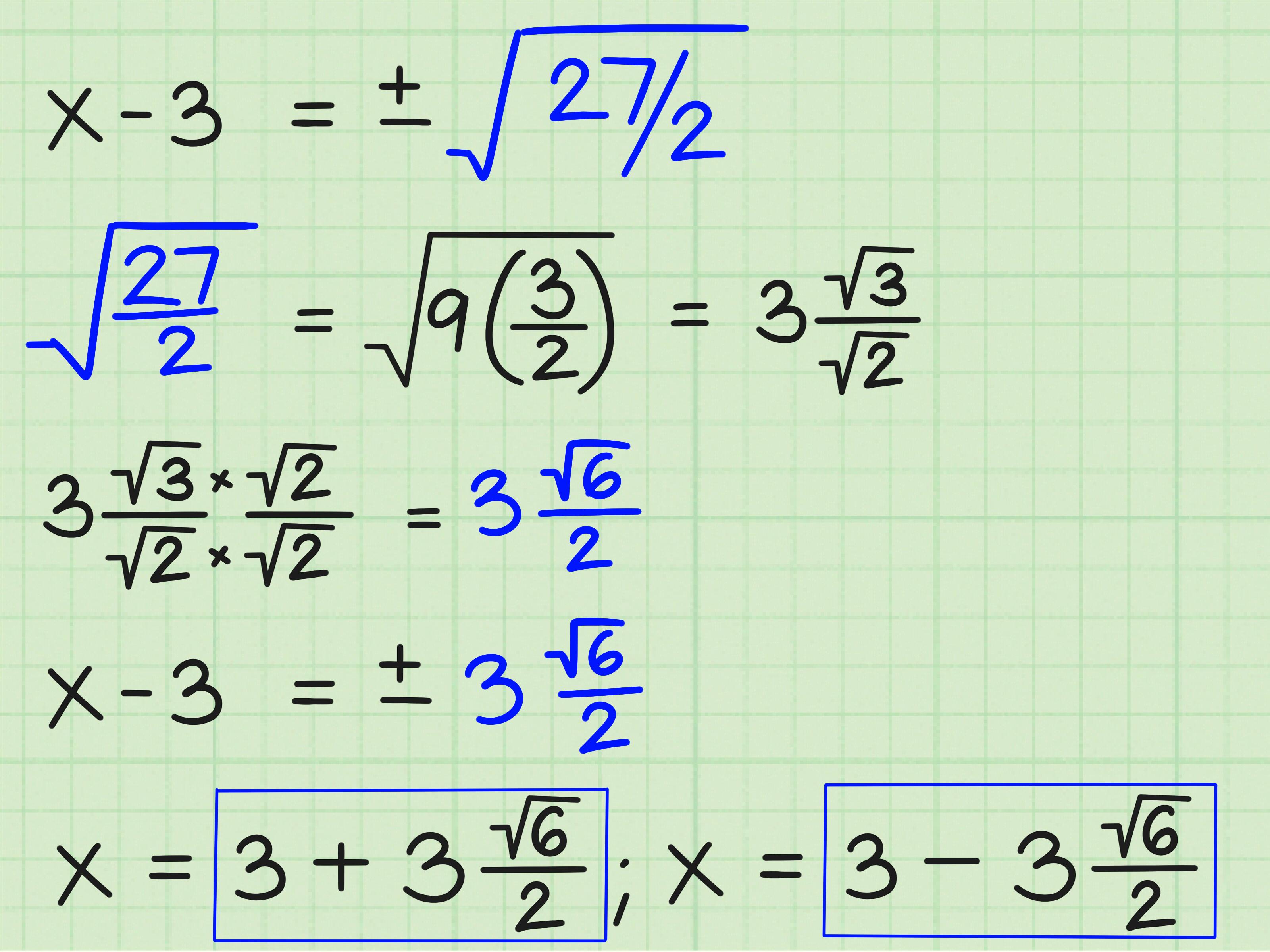 3 Modi Per Risolvere Le Equazioni Quadratiche
