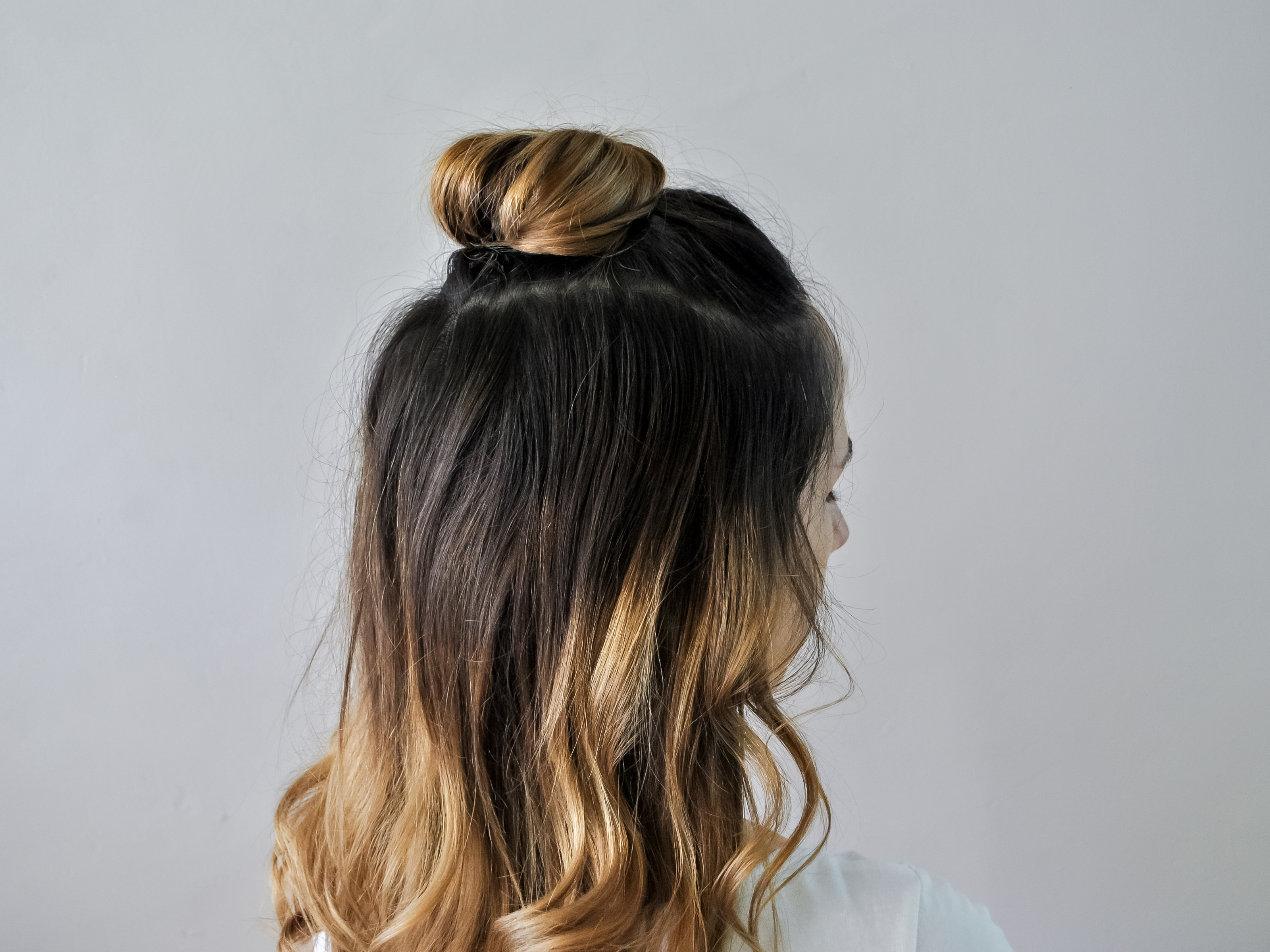 How to Do a Half Up Top Knot 9 Steps with Pictures  wikiHow