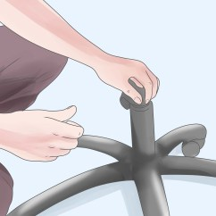 Office Chair Sinking Shower Chairs At Walmart How To Fix A Desk 12 Steps With Pictures