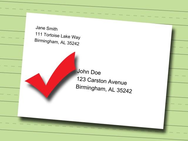 write mail envelope